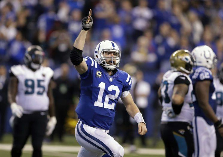 Andrew Luck had shoulder surgery this offseason. (AP)