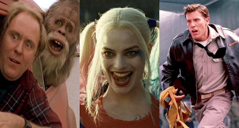 'Harry and the Hendersons', 'Suicide Squad' and 'Pearl Harbor' - three Oscar-winning movies. (Credits: Universal Pictures / Warner Bros / Buena Vista Pictures)