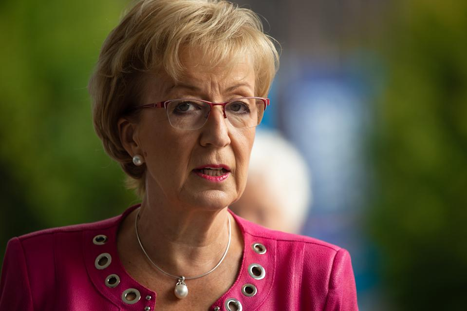 The Rt Hon Andrea Leadsom MP at the Conservative Party Conference at the Manchester Central Convention Complex, Manchester on Monday 30 September 2019  (Photo by P Scaasi/MI News/NurPhoto via Getty Images)