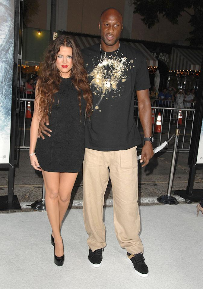 "Khloe Kardashian and Lamar Odom at the Los Angeles premiere of <a href=""http://movies.yahoo.com/movie/1809839458/info"">Whiteout</a> - 09/09/2009"
