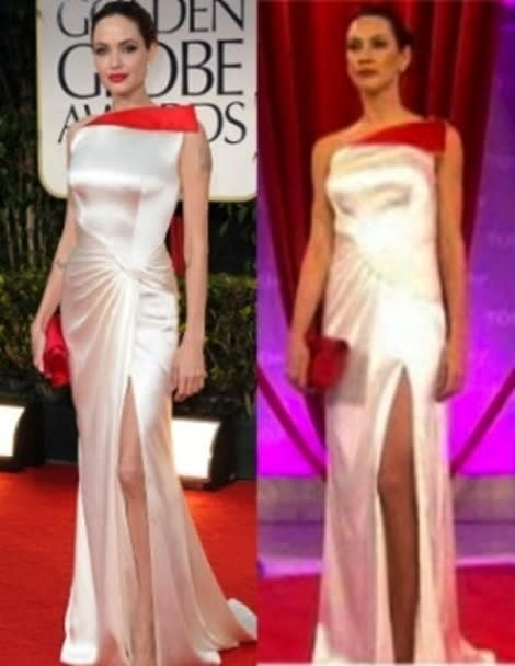 Golden Globes knockoff dresses are already available from Faviana. Photo courtesy of the Today Show.