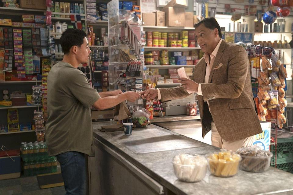 """<p>Smits is a universally-beloved figure in the film/television industry, and he's really great (and a perfect fit) as Kevin Rosario in <em>In The Heights. </em>If we're going to start talking about what else you may have seen him in....well. where do we even start? OG Smits fans may remember him from <em>L.A. Law </em>or <em>NYPD Blue, </em>but he also played Matt Santos on <em>The West Wing </em>and even played a great role for a full season of <em>Dexter, </em>and popped up in <em>Sons of Anarchy</em><em>. </em>Hell, can we give this man some props for playing Bail Organa in three different <em><a href=""""https://www.menshealth.com/entertainment/a30140997/star-wars-movies-in-order/"""" rel=""""nofollow noopener"""" target=""""_blank"""" data-ylk=""""slk:Star Wars"""" class=""""link rapid-noclick-resp"""">Star Wars</a> </em>movies?  </p>"""