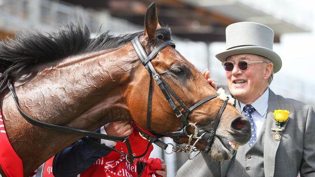 Owner Lloyd Williams with Rekindling. Pic: Getty