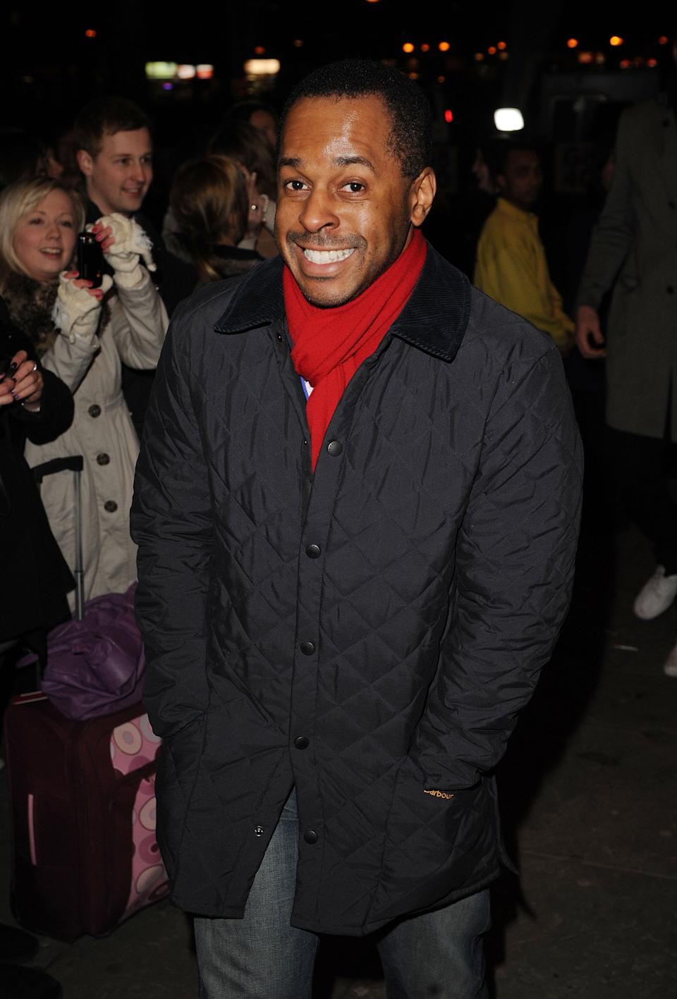 Andi Peters arrives at Gary Barlow's 40th Birthday Concert at Shepherds Bush Empire on January 20, 2011 in London, England. (Photo by Eamonn McCormack/WireImage)