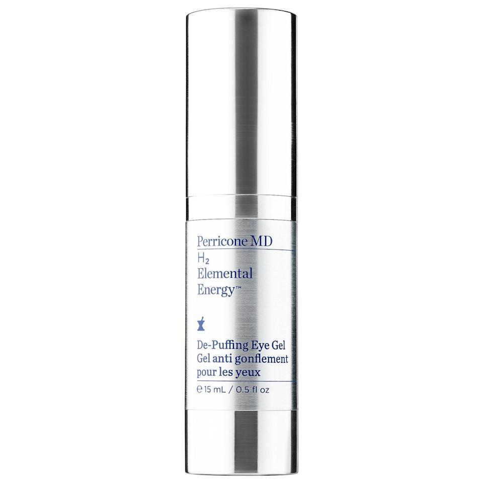 "<h3>Perricone MD H2 Elemental Energy De-Puffing Eye Gel</h3><br>Good things come in small packages, and despite its diminutive size, this soothing eye gel packs an instantly de-puffing punch. With a gentle yet effective formula, this one's a godsend for anyone who has the double whammy of dark circles <em>and</em> sensitive skin.<br><br><strong>Perricone MD</strong> H2 Elemental Energy De-Puffing Eye Gel, $, available at <a href=""https://go.skimresources.com/?id=30283X879131&url=https%3A%2F%2Fwww.sephora.com%2Fproduct%2Fh2-elemental-energy-de-puffing-eye-gel-P418316"" rel=""nofollow noopener"" target=""_blank"" data-ylk=""slk:Sephora"" class=""link rapid-noclick-resp"">Sephora</a>"