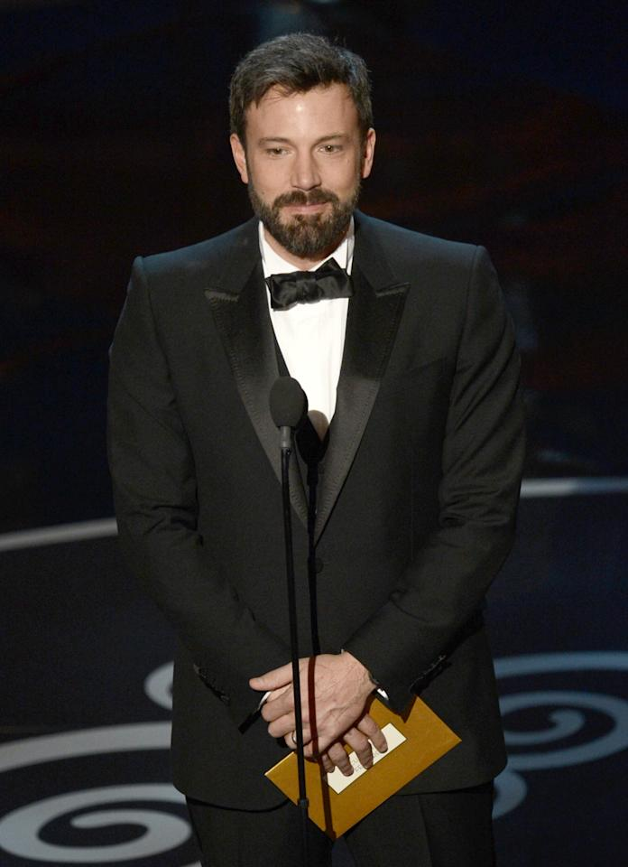 HOLLYWOOD, CA - FEBRUARY 24:  Actor/director Ben Affleck presents onstage during the Oscars held at the Dolby Theatre on February 24, 2013 in Hollywood, California.  (Photo by Kevin Winter/Getty Images)