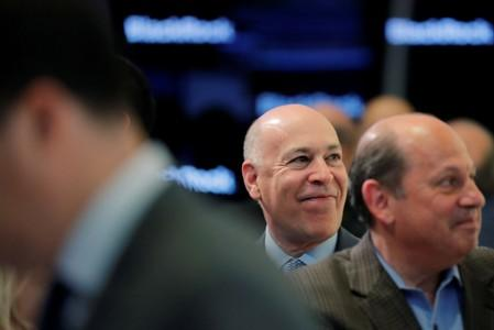 FILE PHOTO: Blackrock's President, Rob Kapito, stands on the floor of the New York Stock Exchange