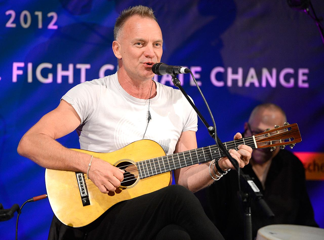 "Sting The singer, who performed at the 2003 halftime show, was born Gordon Matthew Thomas Sumner. The nickname came after he wore a black-and-yellow-striped sweater that made him look like a bee, and it stuck. ""My children call me Sting, my mother calls me Sting; who is this Gordon character?"" he said. ""I was never called 'Gordon.' You could shout 'Gordon' in the street, and I would just move out of your way."""