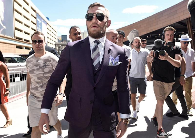 Things were relatively calm ... until McGregor walked onto the scene: Getty
