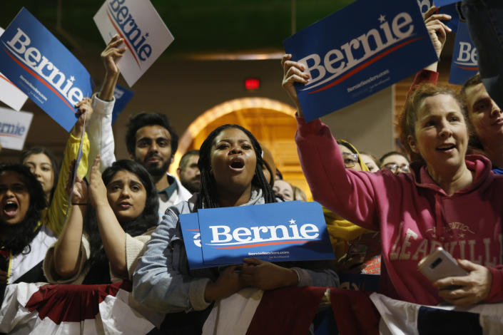 Supporters of Sen. Bernie Sanders