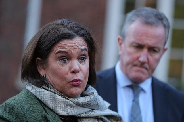 Mary Lou McDonald with Conor Murphy
