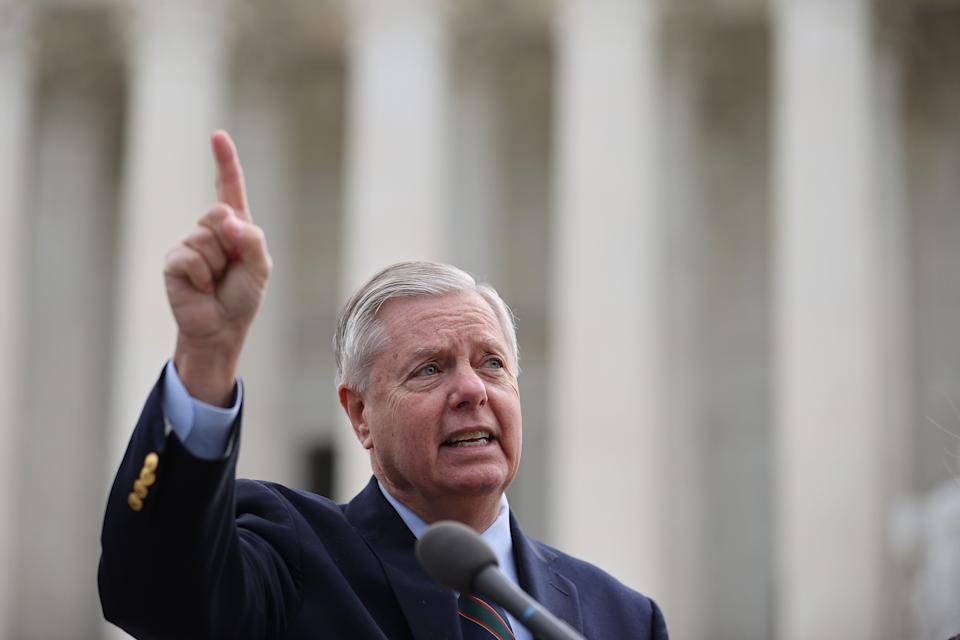 Sen. Lindsey Graham (R-S.C.) is urging former PresidentDonald Trump and other Republicans to focus on the midterms. (Photo: Chip Somodevilla via Getty Images)