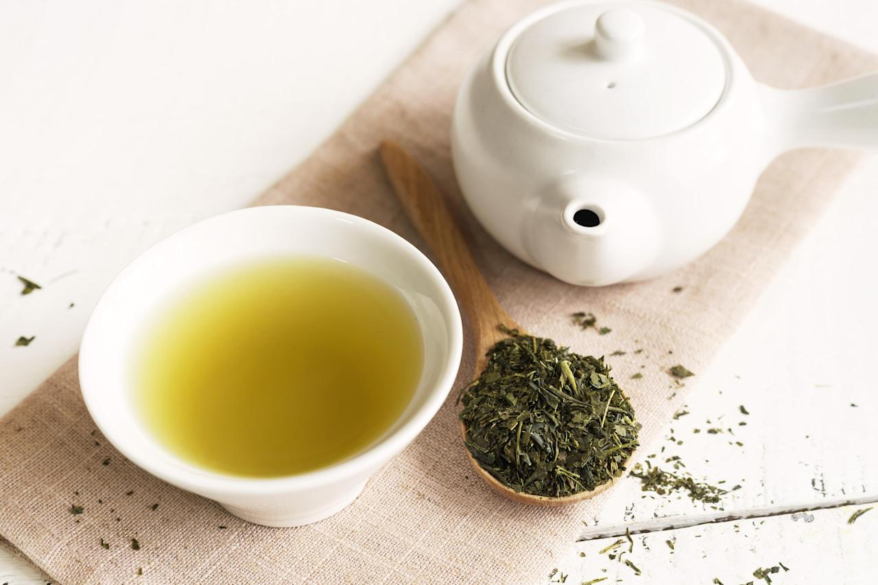 "<p>Dieters swear by it to help with metabolism, but endless cups of green tea might be doing some damage.</p><p>""Tannins are one of the substances that are notorious for staining the tooth's enamel, especially when consumed several times a day,"" Dr Cronin tells Be.</p><p>""Surprisingly green tea has the highest levels of tannins and excessive consumption can cause grey staining.  Whereas black tea has the least staining impact and will produce a more yellow hue.""</p>"