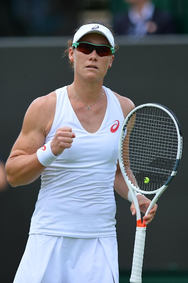 Australia's Samantha Stosur, seen in action during the 2016 Wimbledon Championships (AFP Photo/Glyn Kirk)