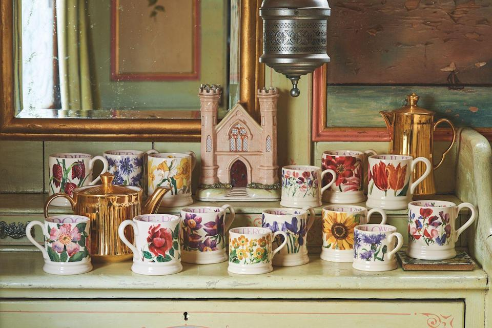 """<p>In the range, you'll find gorgeous sunflower mugs, tulip styles, rose prints and cornflowers, too. Why not order one for yourself and one for a friend? You can never have too many mugs... </p><p><a class=""""link rapid-noclick-resp"""" href=""""https://go.redirectingat.com?id=127X1599956&url=https%3A%2F%2Fwww.emmabridgewater.co.uk%2Fcollections%2Fnew&sref=https%3A%2F%2Fwww.countryliving.com%2Fuk%2Fhomes-interiors%2Finteriors%2Fg35249240%2Femma-bridgewater-spring%2F"""" rel=""""nofollow noopener"""" target=""""_blank"""" data-ylk=""""slk:BUY NOW"""">BUY NOW</a></p>"""
