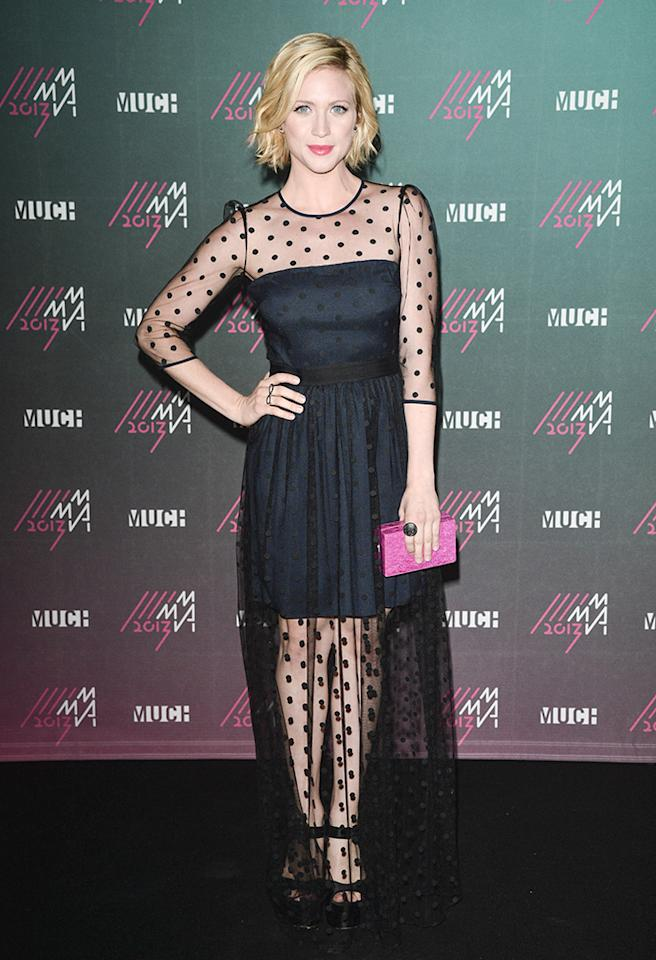TORONTO, ON - JUNE 16:  Brittany Snow poses in the press room at the 2013 MuchMusic Video Awards at MuchMusic HQ on June 16, 2013 in Toronto, Canada.  (Photo by George Pimentel/WireImage)