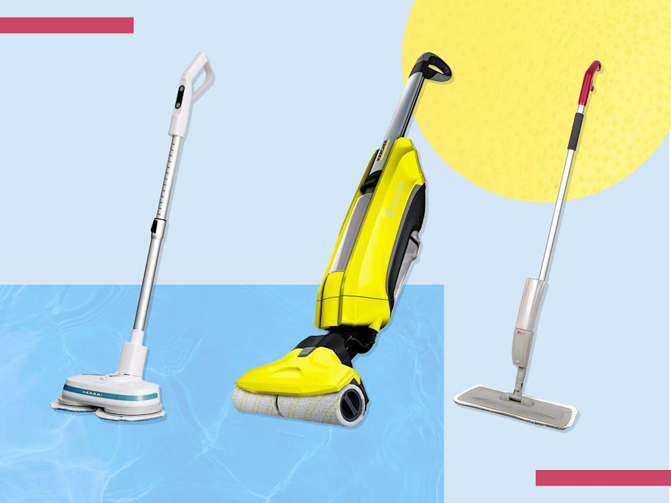 <p>Spray mops are best for cleaning wooden floors, while traditional models work best on tile</p> (iStock/The Independent )