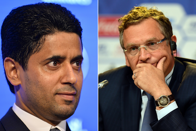 Criminal proceedings have been opened into Paris St-Germain's chairman Nasser Al-Khelaifi and former FIFA secretary general Jerome Valcke by Swiss prosecutors.