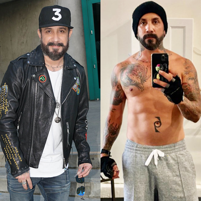 """<p>Before competing on season 29, the Backstreet Boy showed off his drastic weight loss on <a href=""""https://www.instagram.com/p/CE4vzx5JwW-/"""" rel=""""nofollow noopener"""" target=""""_blank"""" data-ylk=""""slk:Instagram"""" class=""""link rapid-noclick-resp"""">Instagram</a>. He explained in the caption: """"The transformation is unrecognizable and I couldn't be happier. Still got a ways to go but now that I'm dancing like I never have before it's coming."""" </p><p>He's been working out with a trainer and following a grain-, dairy-, and sugar-free diet. If the early celeb commitment is any indication, season 29 is shaping up to be a fierce competition for that mirrorball.</p>"""