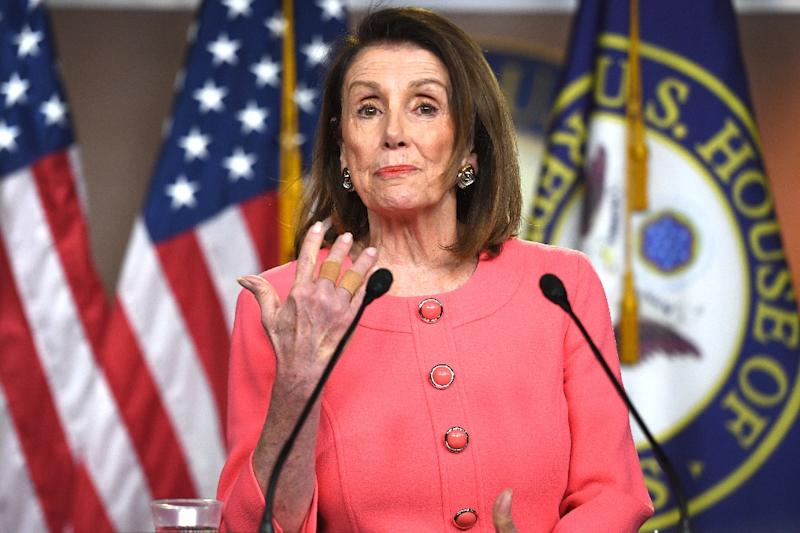 Speaker of the House Nancy Pelosi, pictured at a press conference this month, says she wants the entire Congress to be briefed on Iran by next week ahead of a week-long recess