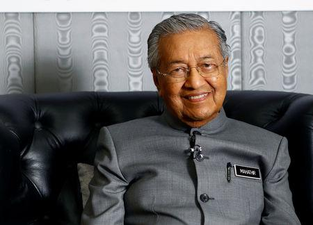 Malaysia's Prime Minister Mahathir Mohamad poses for a portrait in Langkawi