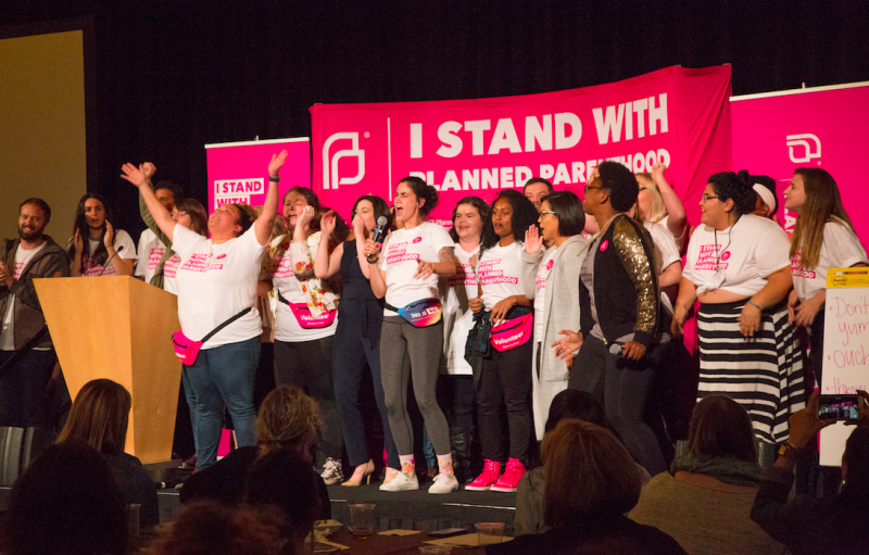 Planned Parenthood organizerskick off the Bellevue summit on Sept. 22, 2017. (Courtesy of Planned Parenthood)