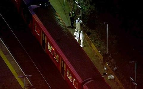 The incident took place on the Guildford to London train