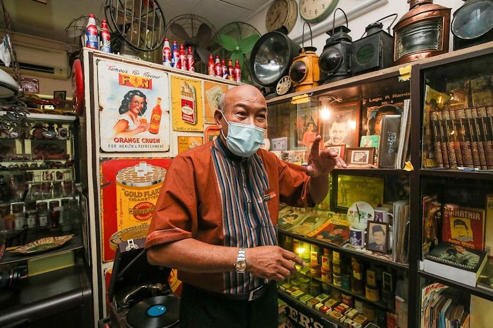 Retiree Ramli Abu Itam has decided to sell his antique collection. ― Picture by Farhan Najib