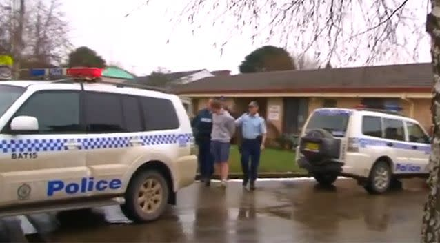 The 24-year-old was eventually arrested and taken to Bathurst police station. Photo: 7 News