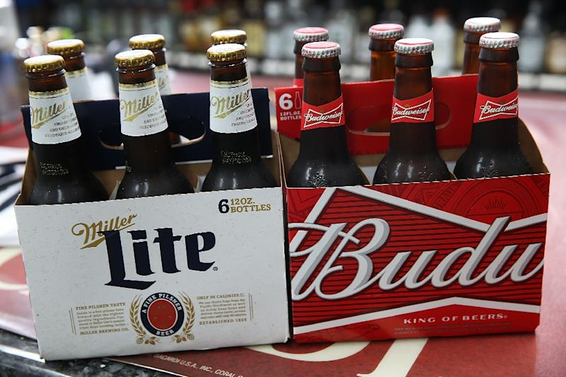 The giant behind top lager brands like Beck's, Budweiser and Stella Artois has finally clinched an informal deal to buy the London-listed maker of Foster's, Miller Genuine Draft and Peroni (AFP Photo/Joe Raedle)