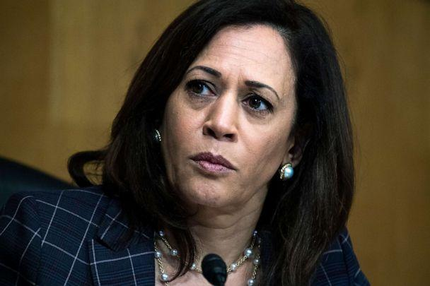 PHOTO: Sen. Kamala Harris attends a Senate Homeland Security and Governmental Affairs Committee hearing on Capitol Hill in Washington, June 25, 2020. (Tom Williams/AP, FILE)