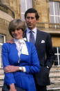 <p>For the iconic engagement portrait, Princess Diana opted for a shorter, more tamed shag. Perhaps a symbolic indication that she was about to be welcomed by the royal family.<br><em>[Photo: PA]</em> </p>