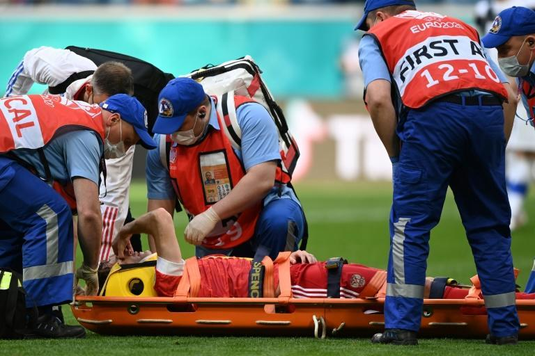Mario Fernandes required lengthy treatment before being stretchered off