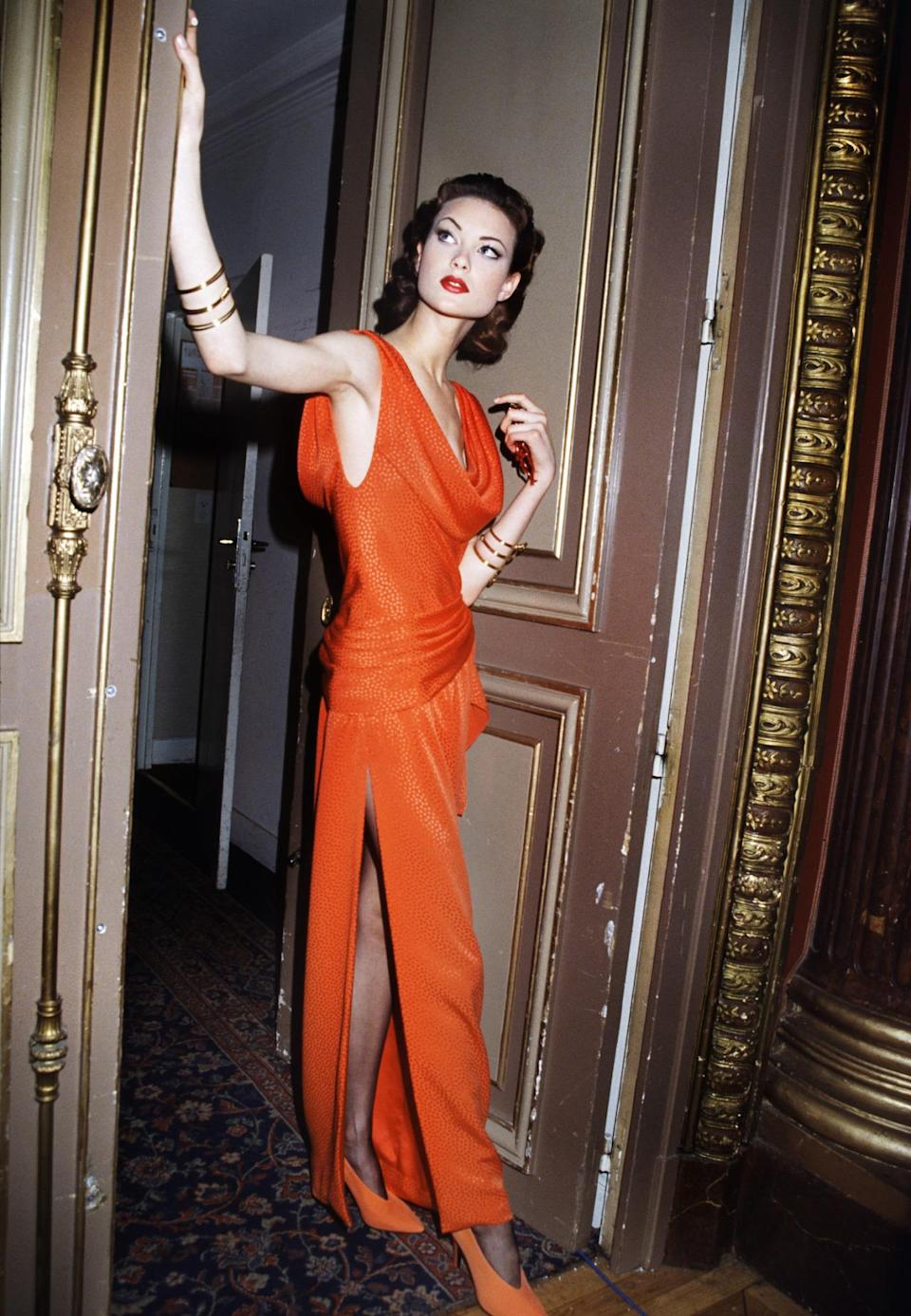 Haute Couture Spring 1993, with Shalom Harlow