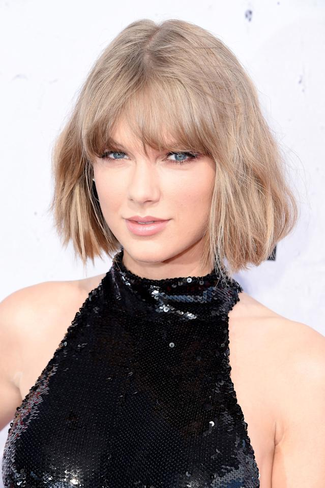 """<p><a rel=""""nofollow"""" href=""""http://www.redbookmag.com/life/a50701/katy-perry-apologizes-to-taylor-swift/"""">Taylor Swift</a>'s version of ash blonde borders on gray, making it all the more chic. </p>"""
