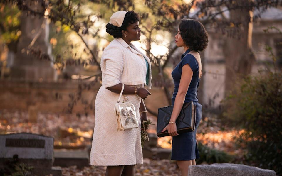 Wunmi Mosaku and Jurnee Smollett in the series finale of the genre-bending Lovecraft Country - HBO