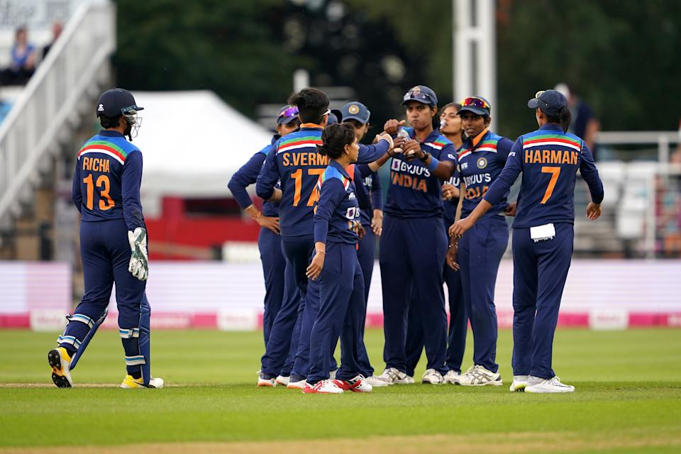 India kept their hopes of drawing the series alive with an eight-run victory over England in the second T20 of the multi-format series at Hove (PA Wire)