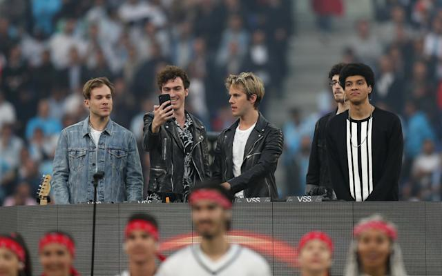 Soccer Football - Europa League Final - Olympique de Marseille vs Atletico Madrid - Groupama Stadium, Lyon, France - May 16, 2018 General view of artists during the pre-match entertainment REUTERS/Peter Cziborra