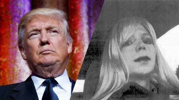 Donald Trump and Chelsea Manning