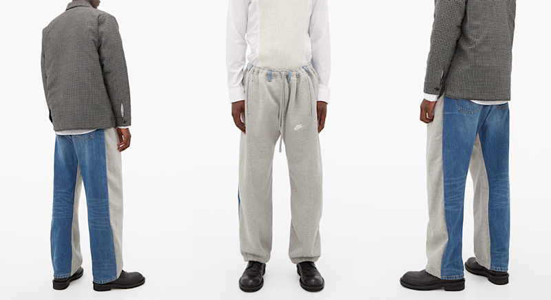 The latest hybrid trousers merge joggers and jeans [Photo: Matches Fashion]