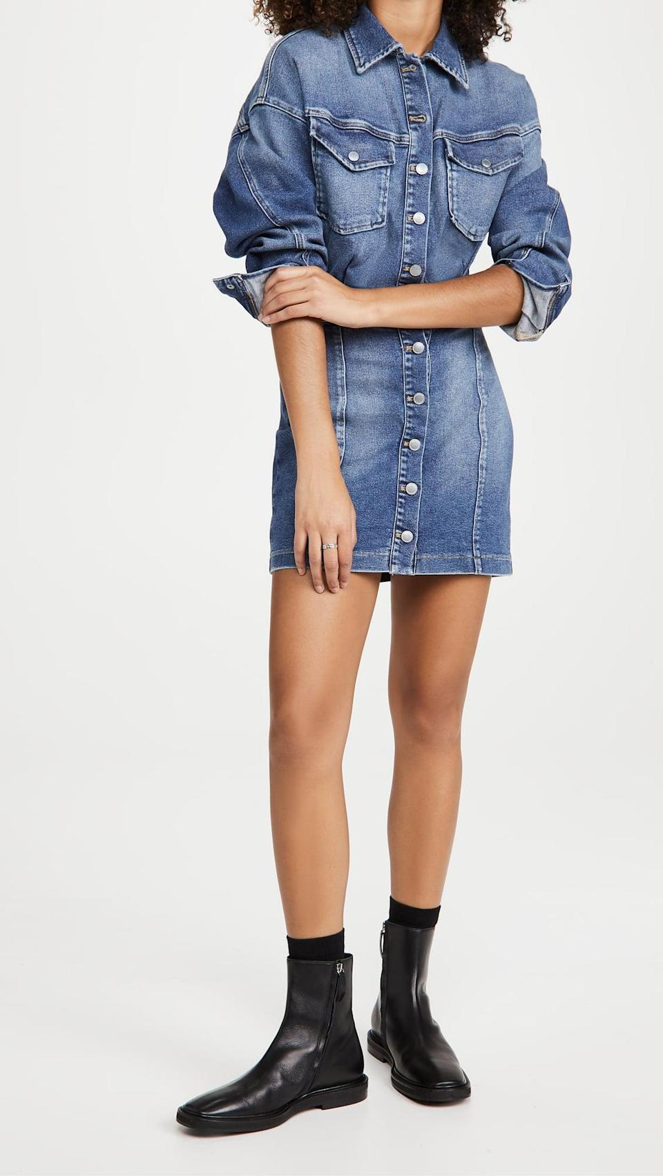<p>This <span>Good American Cinched Jacket Dress</span> ($137, originally $195) is both comfortable and cool.</p>
