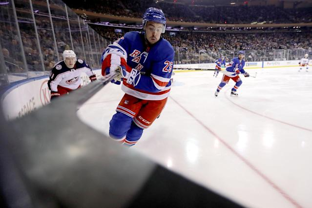 "<a class=""link rapid-noclick-resp"" href=""/nhl/players/5367/"" data-ylk=""slk:Mika Zibanejad"">Mika Zibanejad</a> is positioned to succeed in a top offensive role with the Rangers. (Getty Images)"