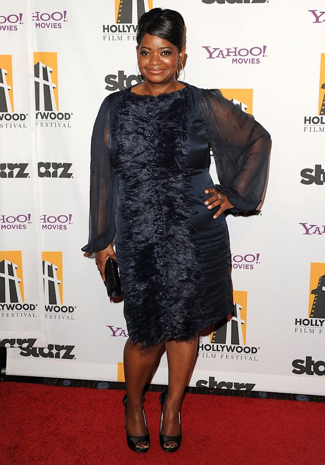 "<a href=""http://movies.yahoo.com/movie/contributor/1800343317"">Octavia Spencer</a> at the 15th Annual Hollywood Film Awards in Beverly Hills, California on October 24, 2011."