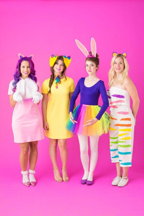 """<p>Who wasn't obsessed with Lisa Frank once upon a time? She's back in style thanks to the popularity of '90s nostalgia and neon. Lug out your old sticker collection, get inspired, and then craft these cute throwback get-ups. </p><p><strong>Get the tutorial at <a href=""""https://studiodiy.com/2016/10/13/diy-lisa-frank-costumes-round-2/"""" rel=""""nofollow noopener"""" target=""""_blank"""" data-ylk=""""slk:Studio DIY"""" class=""""link rapid-noclick-resp"""">Studio DIY</a>.</strong></p><p><a class=""""link rapid-noclick-resp"""" href=""""https://www.amazon.com/BESTOYARD-Layered-Rainbow-Ruffle-Petticoat/dp/B06ZYZLXGG?tag=syn-yahoo-20&ascsubtag=%5Bartid%7C10050.g.21603260%5Bsrc%7Cyahoo-us"""" rel=""""nofollow noopener"""" target=""""_blank"""" data-ylk=""""slk:SHOP RAINBOW TUTUS"""">SHOP RAINBOW TUTUS</a></p>"""