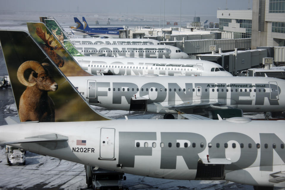 Frontier Airlines planes.