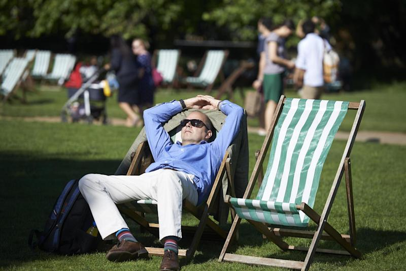 UK sunshine: Temperatures are expected to reach 26C this weekend (AFP/Getty Images)