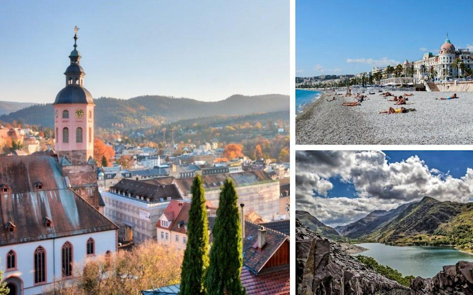 Baden Baden, Nice and North Wales have all made this year's list