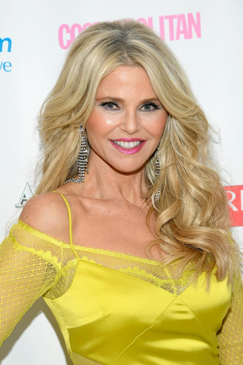 Christie Brinkley poses at an event