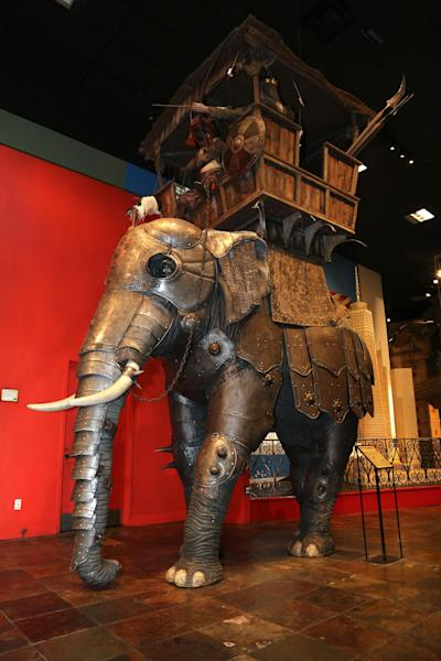 This undated image released by Ripley's Times Square Odditorium shows a 18th century, iron-clad elephant armor from India at Ripley's Times Square Odditorium in New York. The item is one of many from a featured collection up for sale until Dec. 24. (AP Photo/Ripley's Times Square Odditorium)