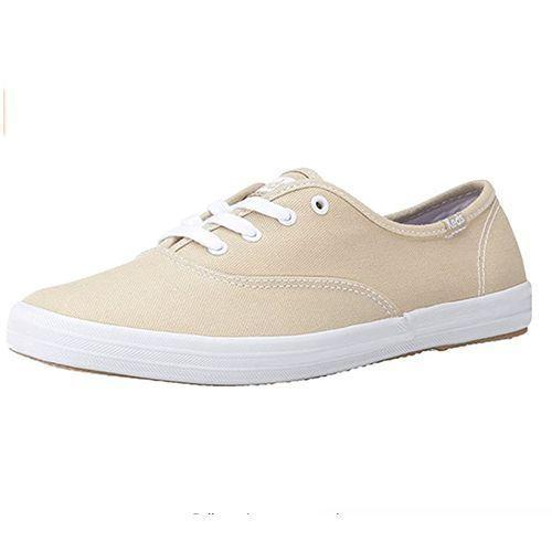 """<p><strong>Keds</strong></p><p>amazon.com</p><p><strong>$29.99</strong></p><p><a href=""""https://www.amazon.com/dp/B0017H4YG6?tag=syn-yahoo-20&ascsubtag=%5Bartid%7C10055.g.36652980%5Bsrc%7Cyahoo-us"""" rel=""""nofollow noopener"""" target=""""_blank"""" data-ylk=""""slk:Shop Now"""" class=""""link rapid-noclick-resp"""">Shop Now</a></p><p>Keds and the summer go hand in hand. For when you need a no-fuss shoe, this is the best option thanks to the real cotton canvas and textured rubber outsole, which is sturdy and supportive.</p>"""